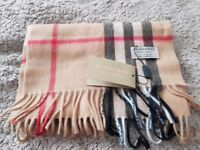 Vintage 100% Cashmere Burberry Scarf New Beautiful look