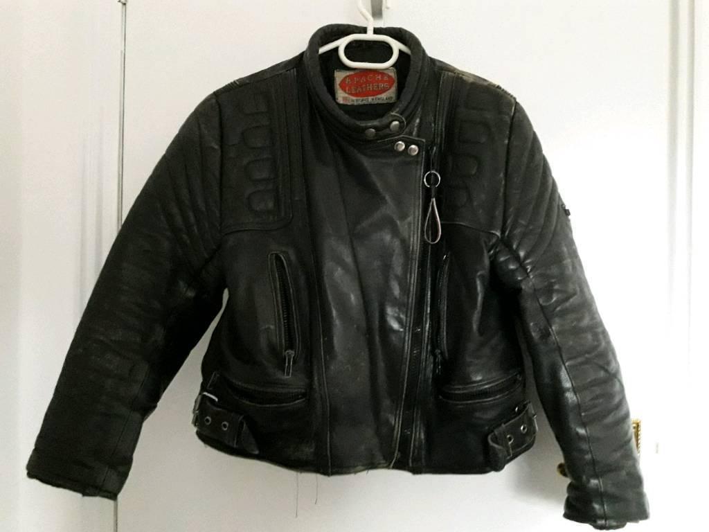 Leather motorcycle jacket ladies