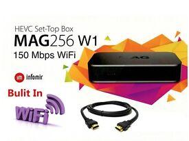 Mag 256w1 IPTV box Wi-Fi- Genuine Informir product - Brand New not zgemma, dreambox