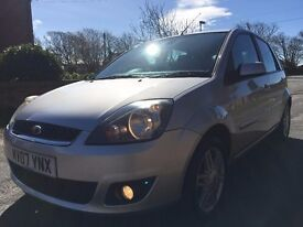 2007 IMMACULATE CONDITION FORD FIESTA GHIA,1.4CC, FULL SERVICE HISTORY,MOT MAR 2018,LEATHER INTERIOR
