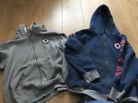 2 converse hoodies