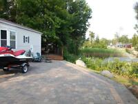 wasaga beach country life resort park model trailer by pond