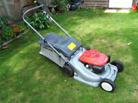 HONDA MOWER SELF PROPELLED LAWNMOWER HRB476C PETROL WITH COLLECTER - GOOD CONDITION
