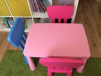 Mammut Children's Plastic Table & Chairs