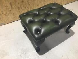Chesterfield Footstool Green