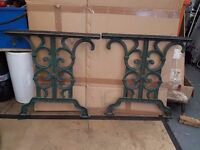 Old heavy cast iron garden furniture project