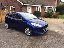 Ford Fiesta Zetec S EcoBoost 1.0 Deep Impact Blue (Immaculate Condition, 65 Plate, Low Mileage)