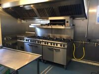 Fully equipped commercial kitchen for rent