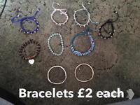 Jewellery and bracelets