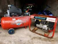Honda generator and clark ranger compressor