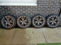 "19""alloy wheels brand new with new tyres"