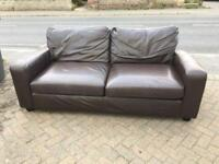 Quality 3 seater leather sofa-£80 delivered