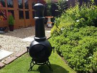 large cast iron garden chimnia wood burner