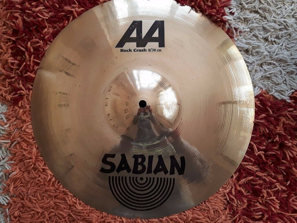 "Sabian AA Rock Crash 16"" in excellent condition"