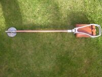 Shooting stick with leather seat