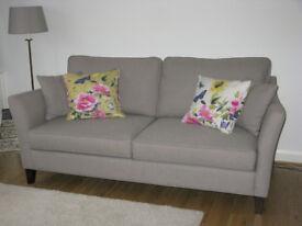 Sofas & Stuff Ashdown 3 seater sofa stone mushroom brown herringbone fabric classic