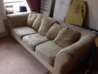 Selling 2 Large Sofas, 3 Bed Frames and Mattresses, Chest of Drawers, Tables, Chairs, and other bits