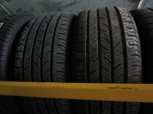 PAIR OF USED CONTINENTAL TIRES 225/40R18