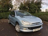 2007 (07) Peugeot 206 1.4 HDi 70 Look 72,000 MILES FULL PEUGEOT SERVICE HISTORY IMMACULATE 207