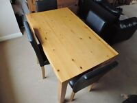 Four seater Table and chairs