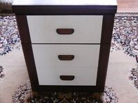 pair Bedside table 3 drawers