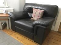 Natuzzi Leather Armchair