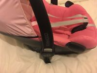 2015 MAXI COSI PEBBLE PLUS ISIZE CAR SEAT BERRY PINK/ ALL PINK L@@K!!