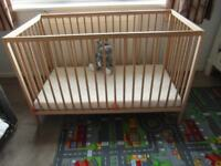 COT BED + MATTRESS - BOURNVILLE