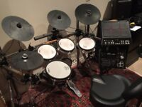 Roland V-Drums with Roland TD-30 Sound Module & Roland SPD-SX Sampling Pad - excellent condition.
