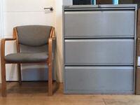 *BISLEY 3 Drawer Metal Filing Cabinet | With Key*