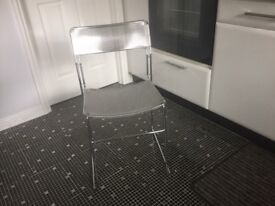 4 Retro Chrome Italian Kitchen/Dining Chairs... beautiful condition.