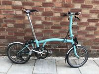 Brompton S2L Folding Bike + Brooks Saddle & Grips