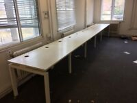 Bench desking in white for 5 people-ideal for Hot desking -last one in stock!