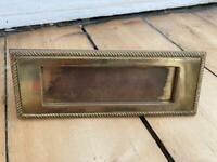 Vintage Brass Letterbox