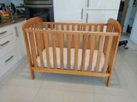 Cot and sprung mattress   East coast Mothercare cot OFFERS WELCOMED