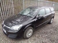 VAUXHALL ASTRA 1.4 PETROL 2005 5 DOOR ESTATE BLACK 87,000 M.O.T 09/04/19 FULL...