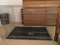 Large dog crate, 2 door