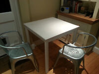 Small white IKEA dining table for sale