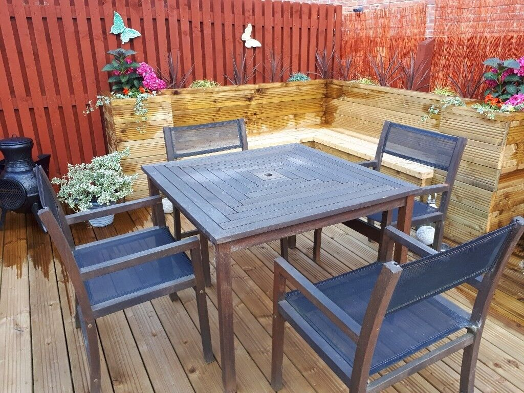 Square wooden garden table set for sale perth