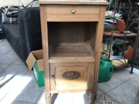 Very old French bedside unit
