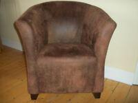 Large Brown Tub Chair