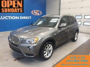2013 BMW X3 XDRIVE! HUGE SUNROOF! LEATHER! FINANCE NOW!
