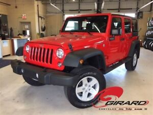 2016 Jeep WRANGLER UNLIMITED SPORT*MANUELLE*TOIT RIGIDE*A/C*LIFT