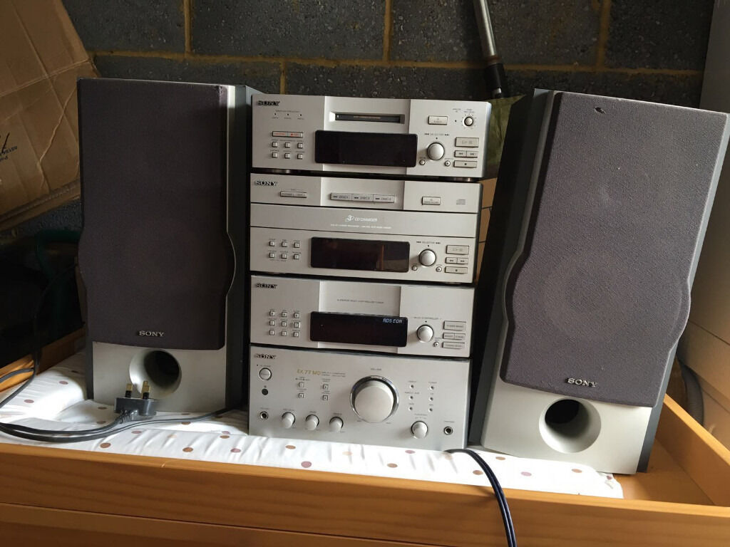 Sony Dhc Ex 77 Md Stereo System Minidisc Tuner Cd Decks