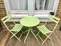 Garden table and two chairs metal FLEXIBLE WITH PRCIES