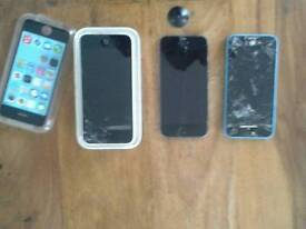 Assortment of iphones