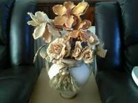 Stunning ornamental vase with flowers