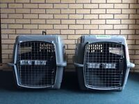 2 Petmate Sky Kennel Ultras for Pets Up to 30 pounds