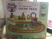NEW unopened safari train toy