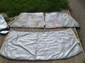 Bedford CF Solar Screen Window covers
